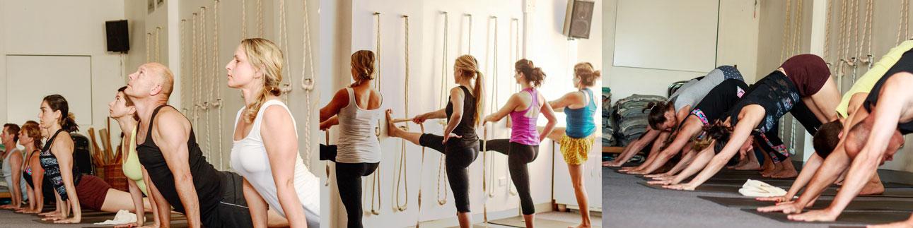 Iyengar yoga beginners class