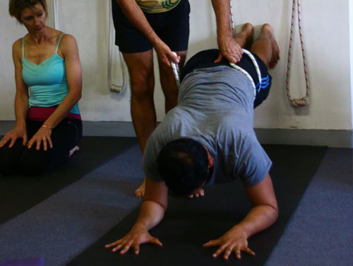 iyengar yoga rehabilitate and strengthen the lower back