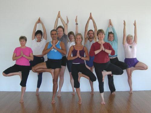 Iyengar Yoga Retreat group at Gurukul